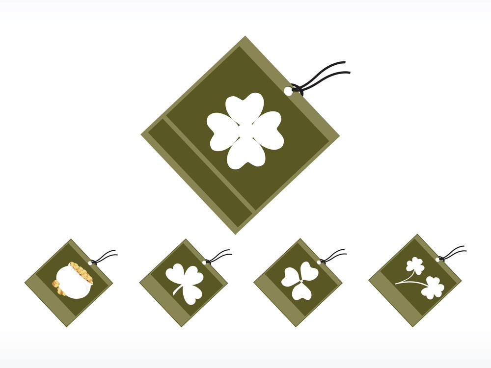 St. Patrick's Day Tags Illustration