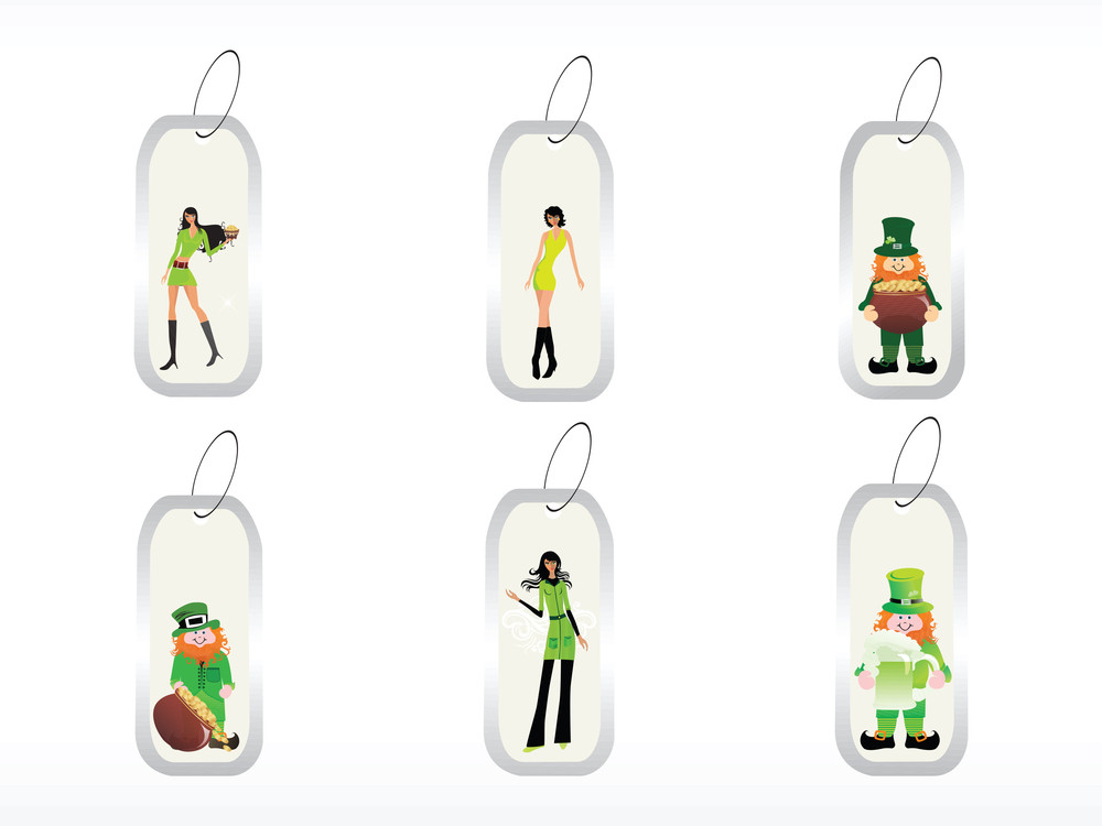 St. Patrick's Day Tags With Models