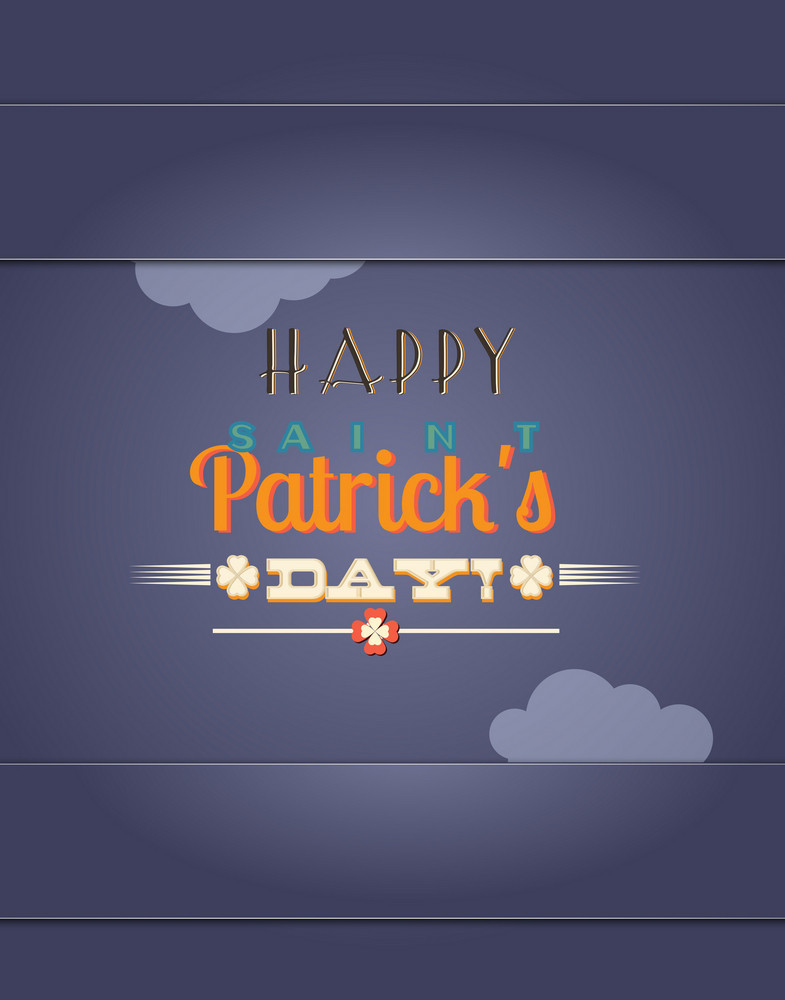 St. Patrick's Day Vector Illustration With Clouds