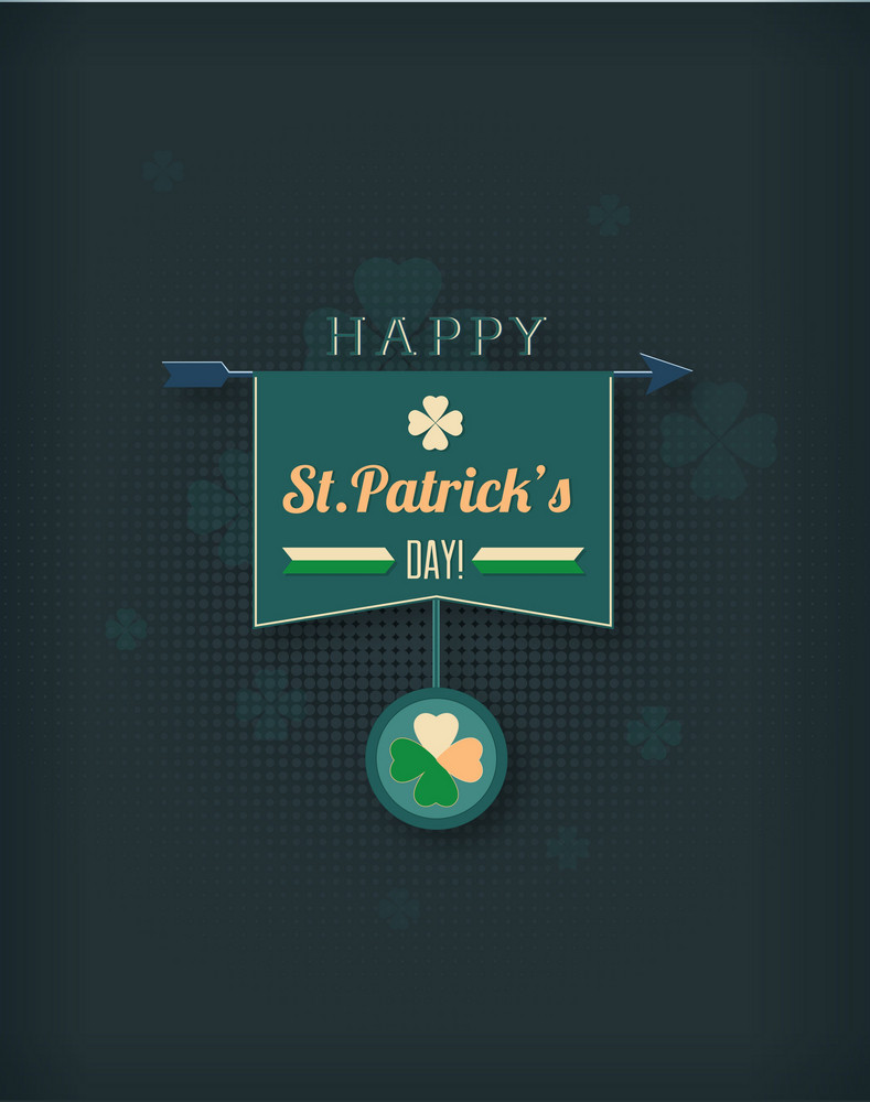 St. Patrick's Day Vector Illustration With Clover