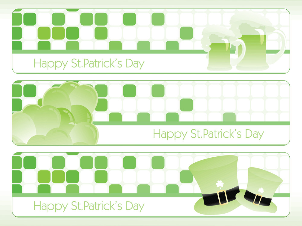 St. Patrick's Theme Banner 17 March