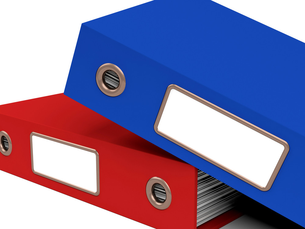 Stack Of Two Files For Getting Office Organized