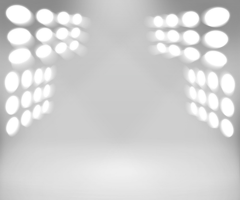 Stadium Spotlight White Room Background