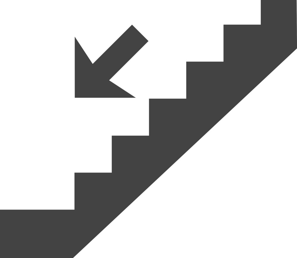 Staircase Down Glyph Icon