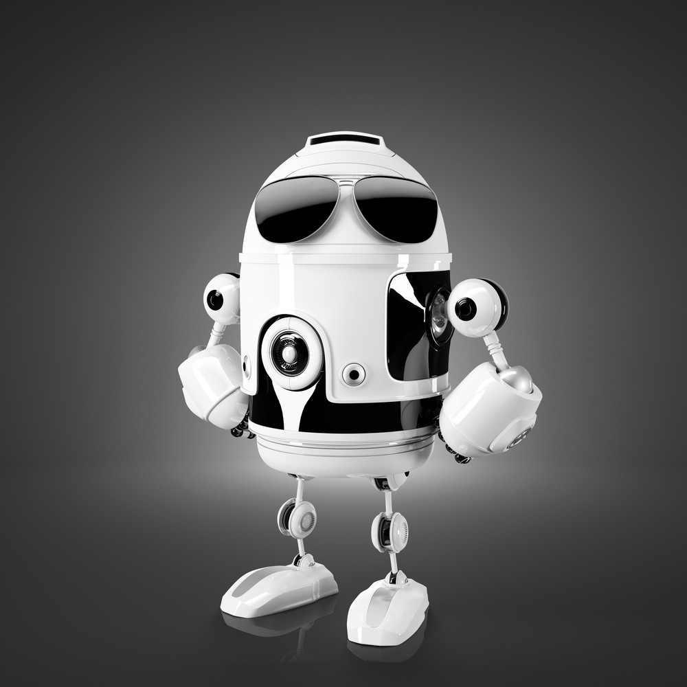 Standing Android Robot.