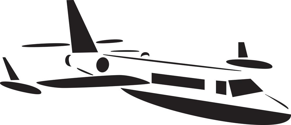 Standingairplane In Black And White.