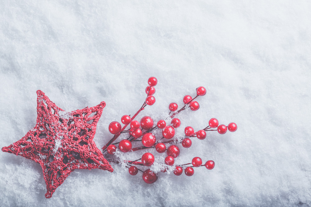 Star in snow