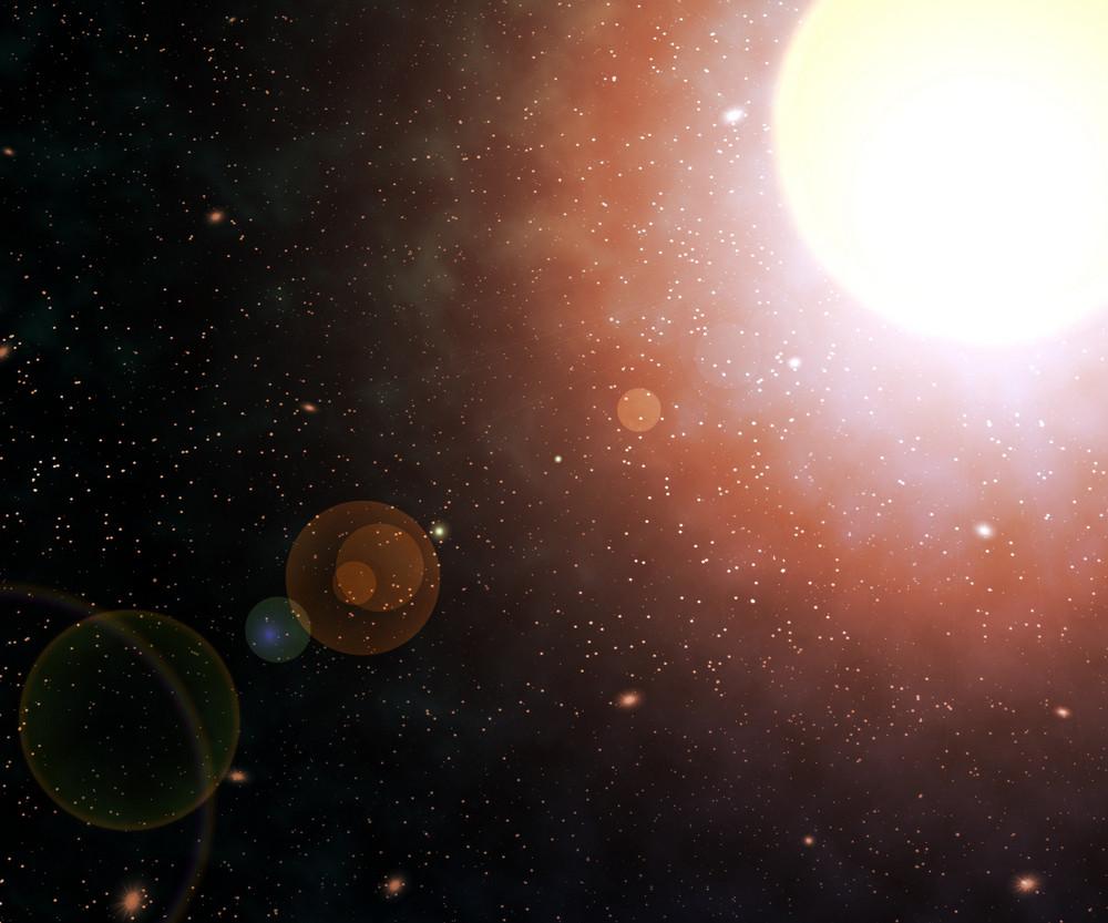 Star Nebula Space Backdrop