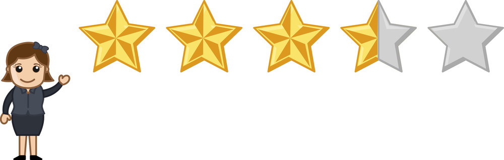 Star Rating - Vector Character Cartoon Illustration