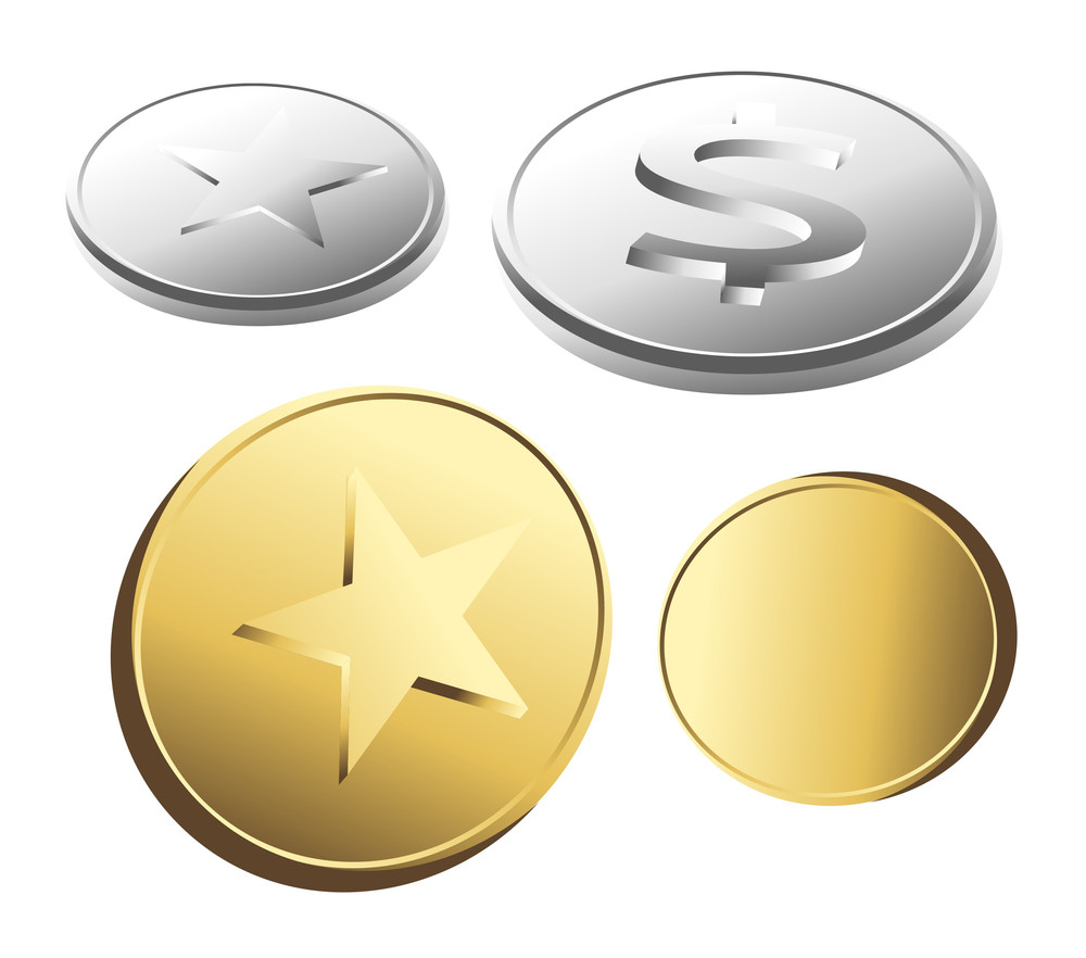 Stars And Dollar Coins