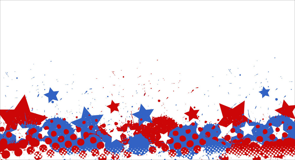 Stars And Stains American Themed Independence Day Vector Design