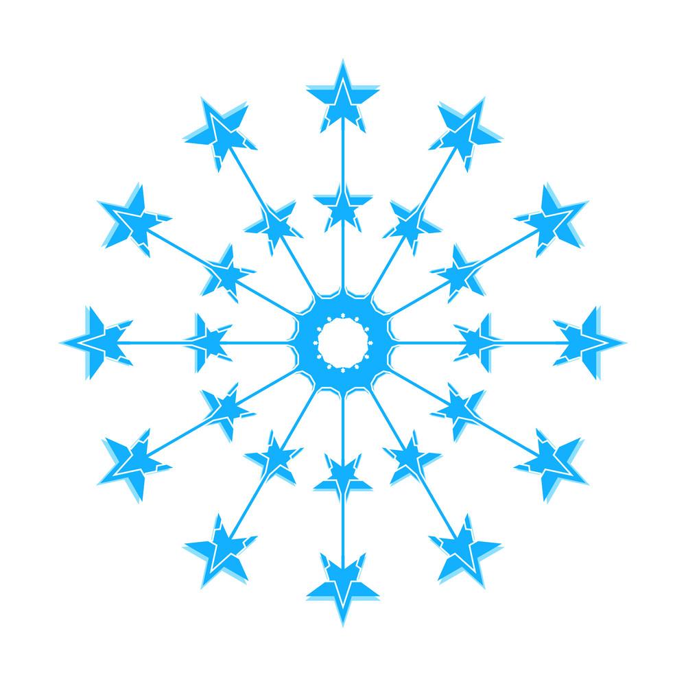 Stars Decorative Snowflake