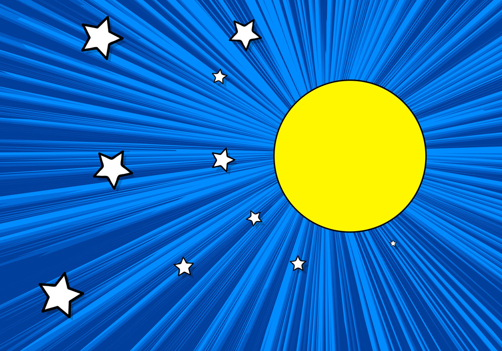 Stars In Moonlight Backgrund