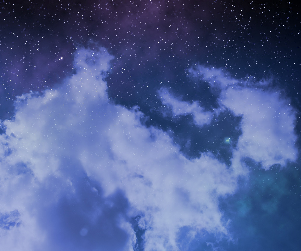 Stars On Night Sky Abstract Space Background