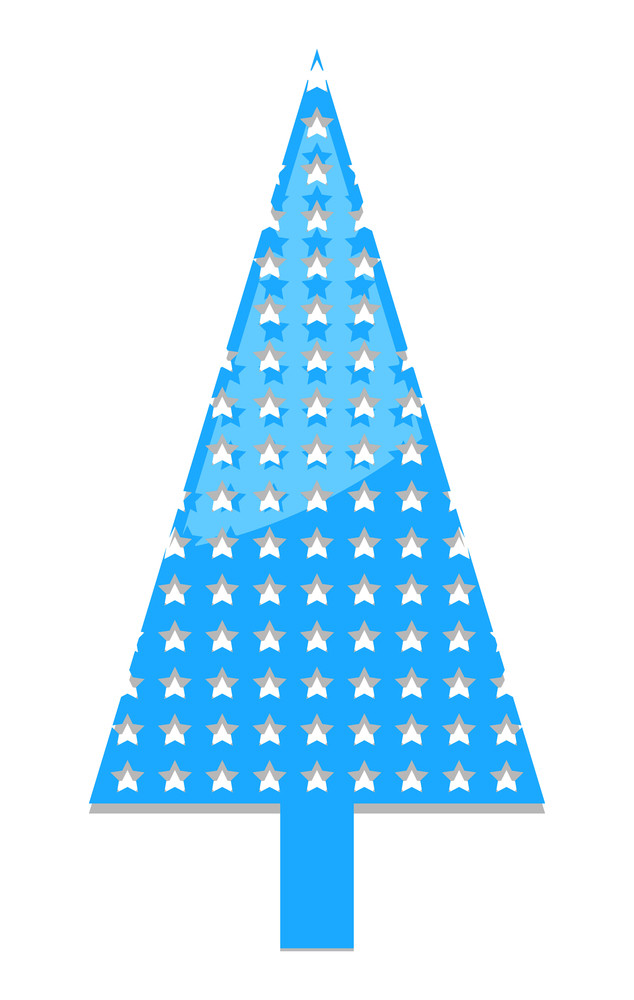 Stars Pattern Christmas Tree