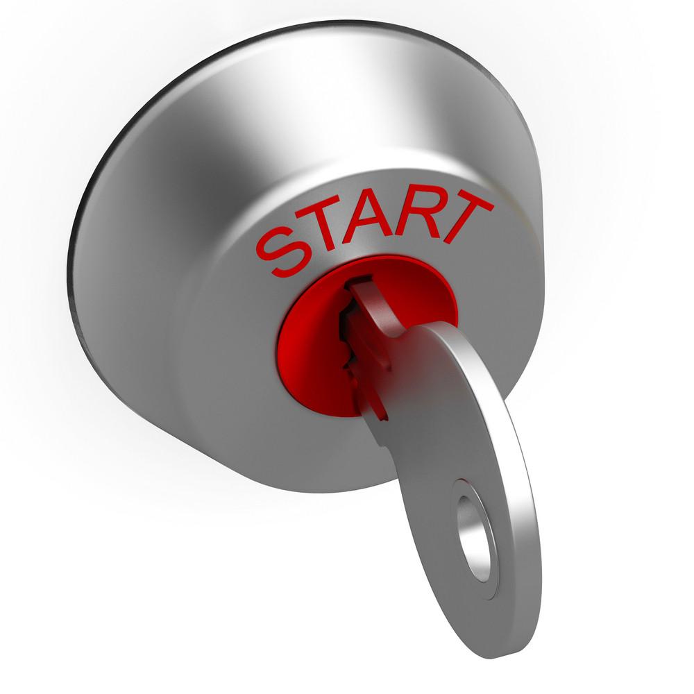 Start Key Showing Car Ignition
