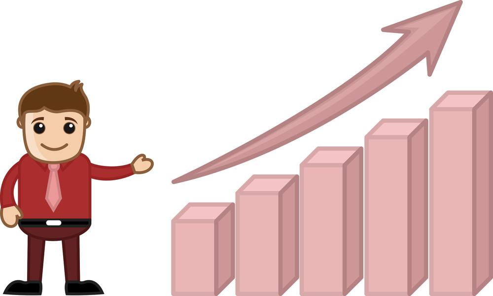 Stats Bar Growing Up Cartoon Business Character