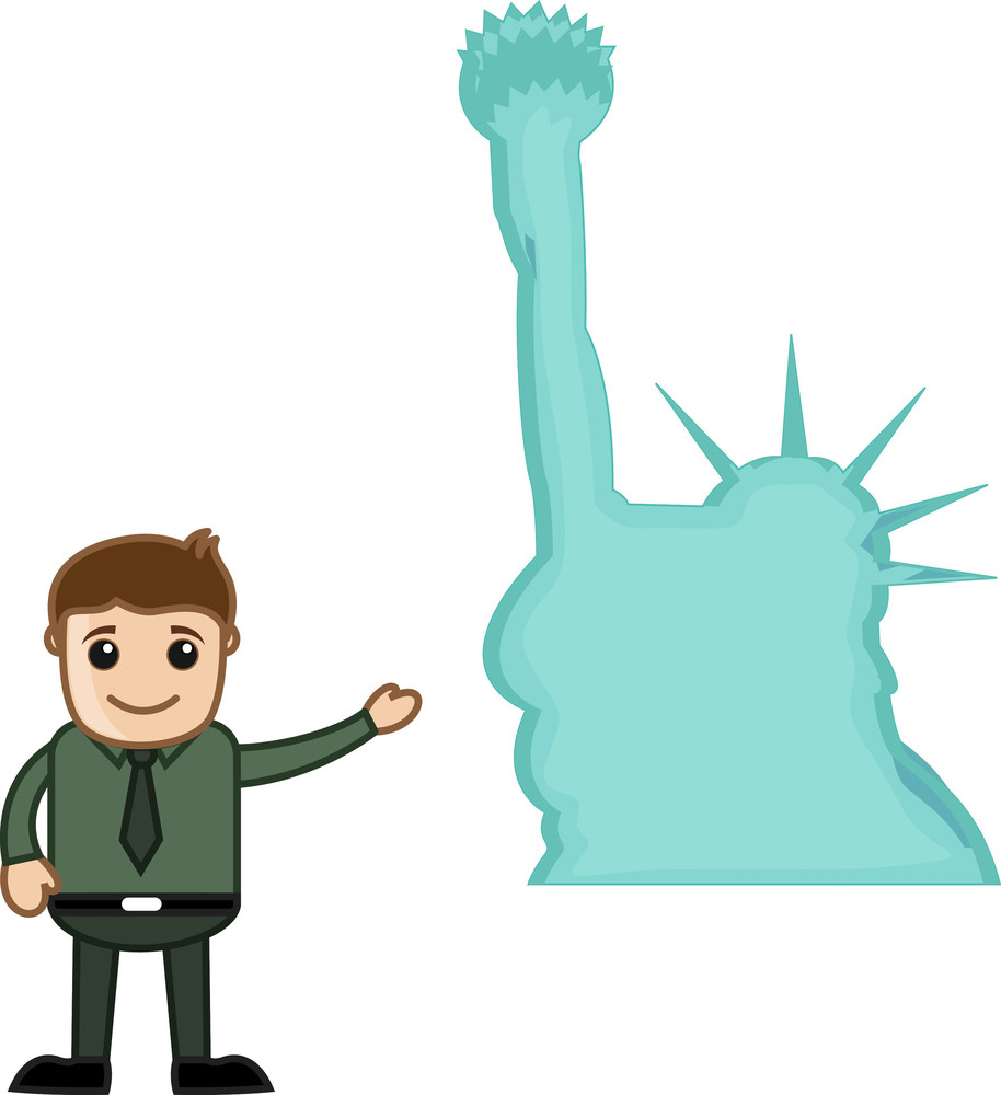 Statue Of Liberty Vector Cartoon