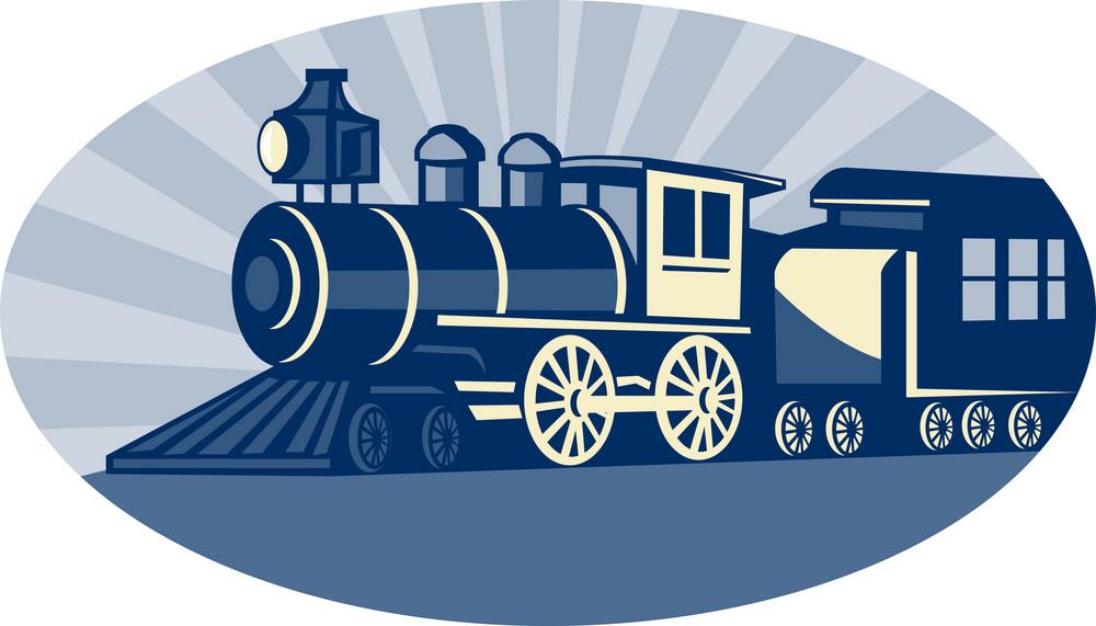 Steam Train Or Locomotive