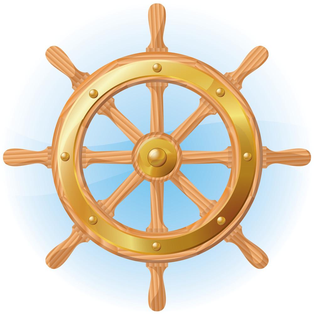 Steering Wheel. Vector.