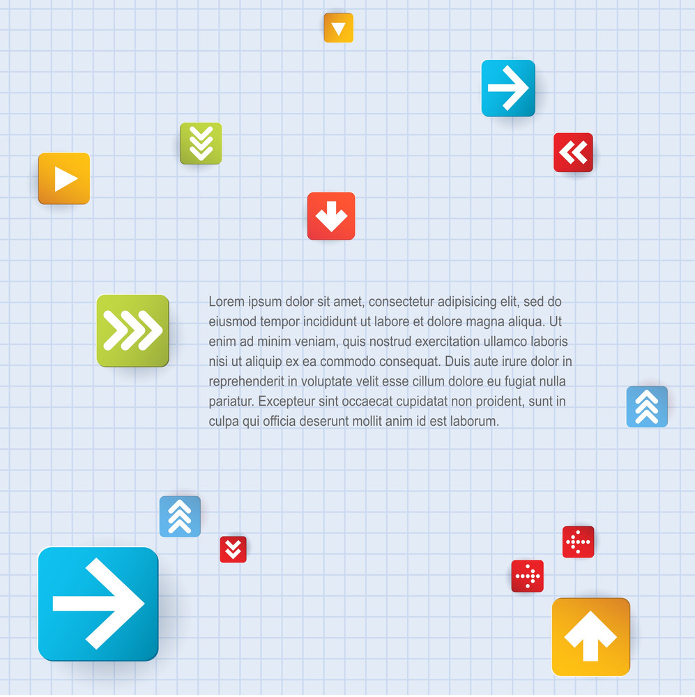 Step By Step Arrow Background. Vector.