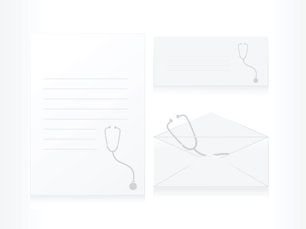 Stethoscope Backgrond Letter With Envelope