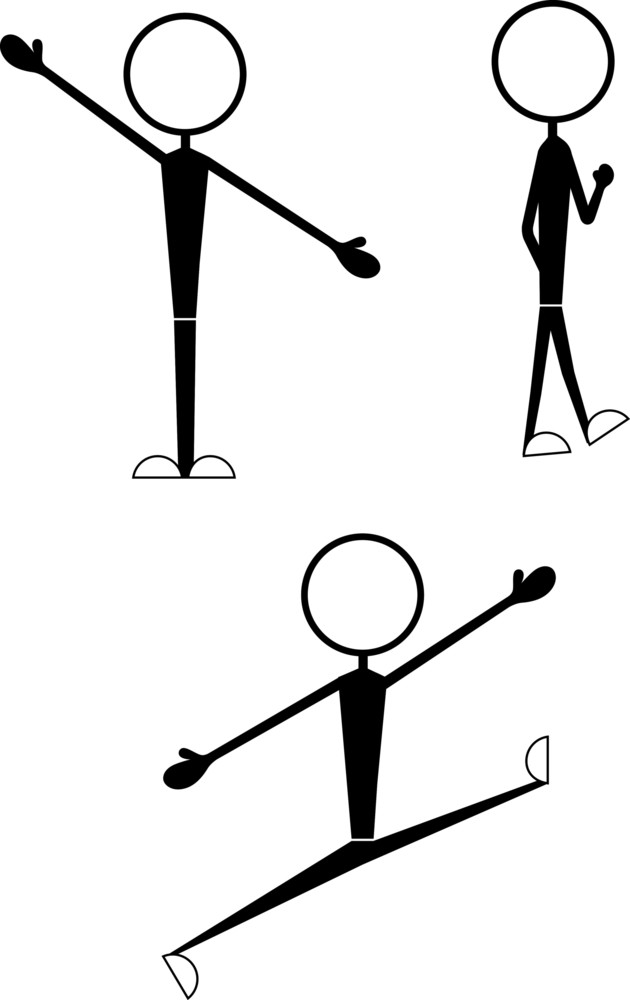 Stick Figure Characters Poses
