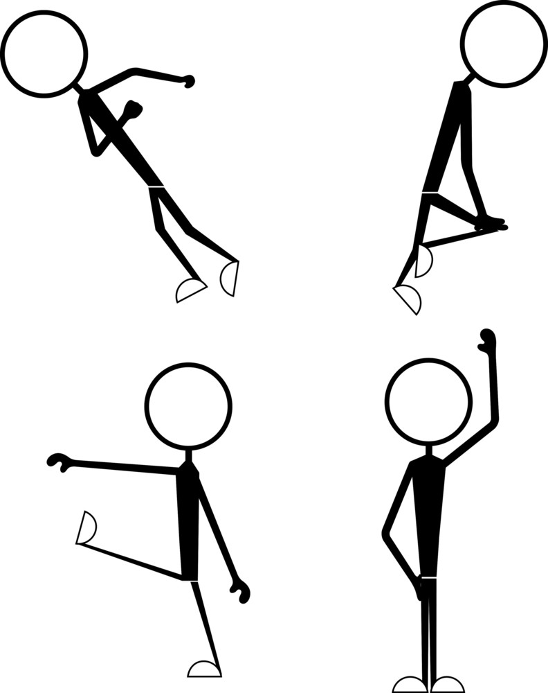 Stick Figure Funny Position