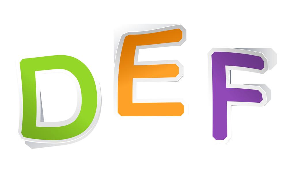 Sticker Letters. Vector Alphabet Set.