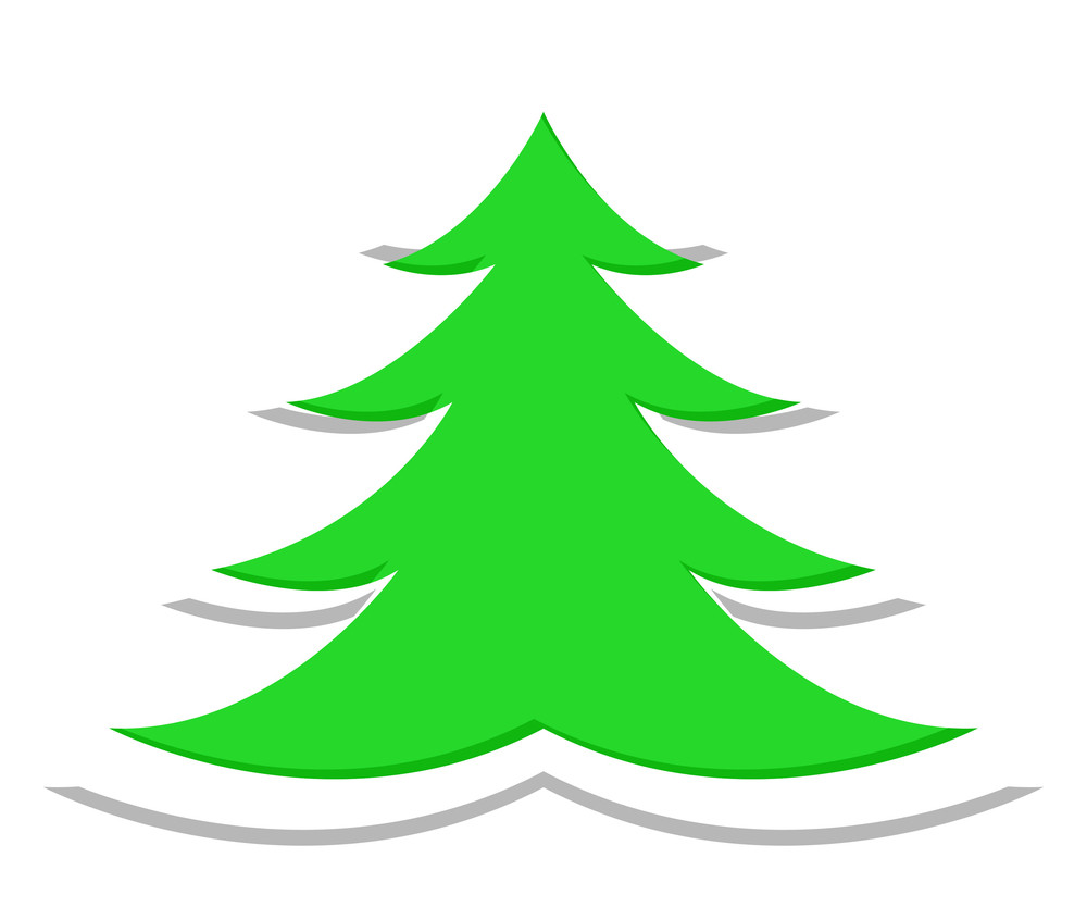 Sticker Style Christmas Tree