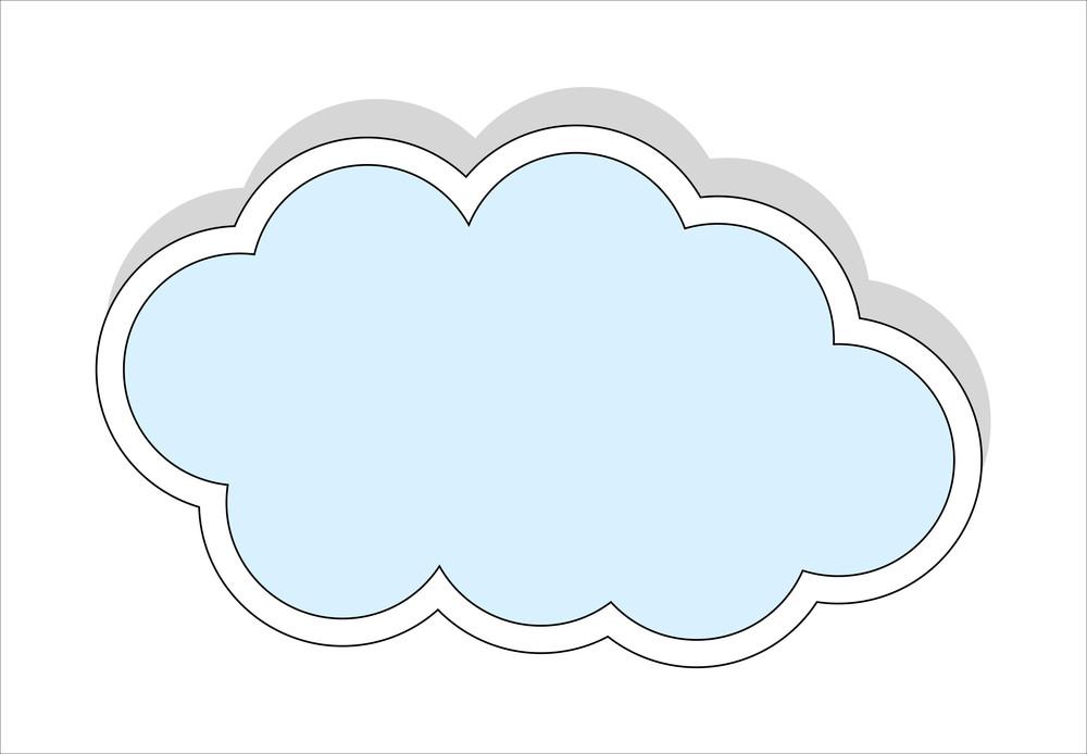 Sticker Style Cloud