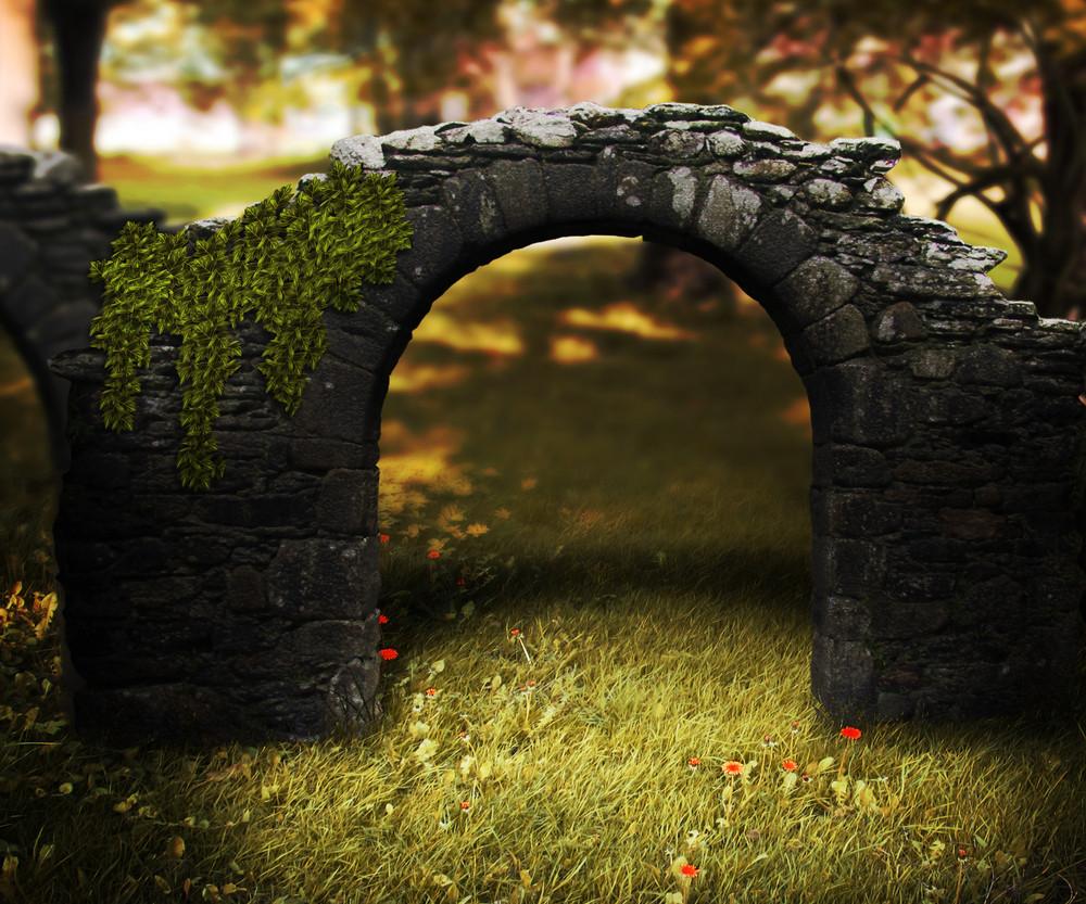 Stone Arch Fantasy Background