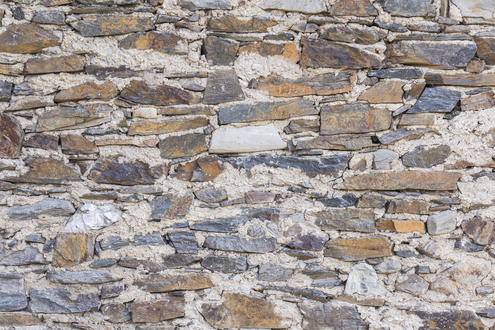 Stone wall textured and background