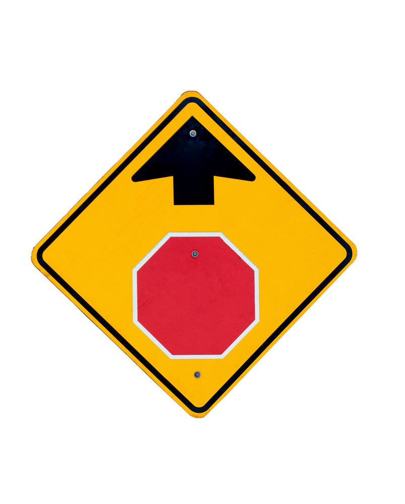 Stop Arrow Symbol Signboard
