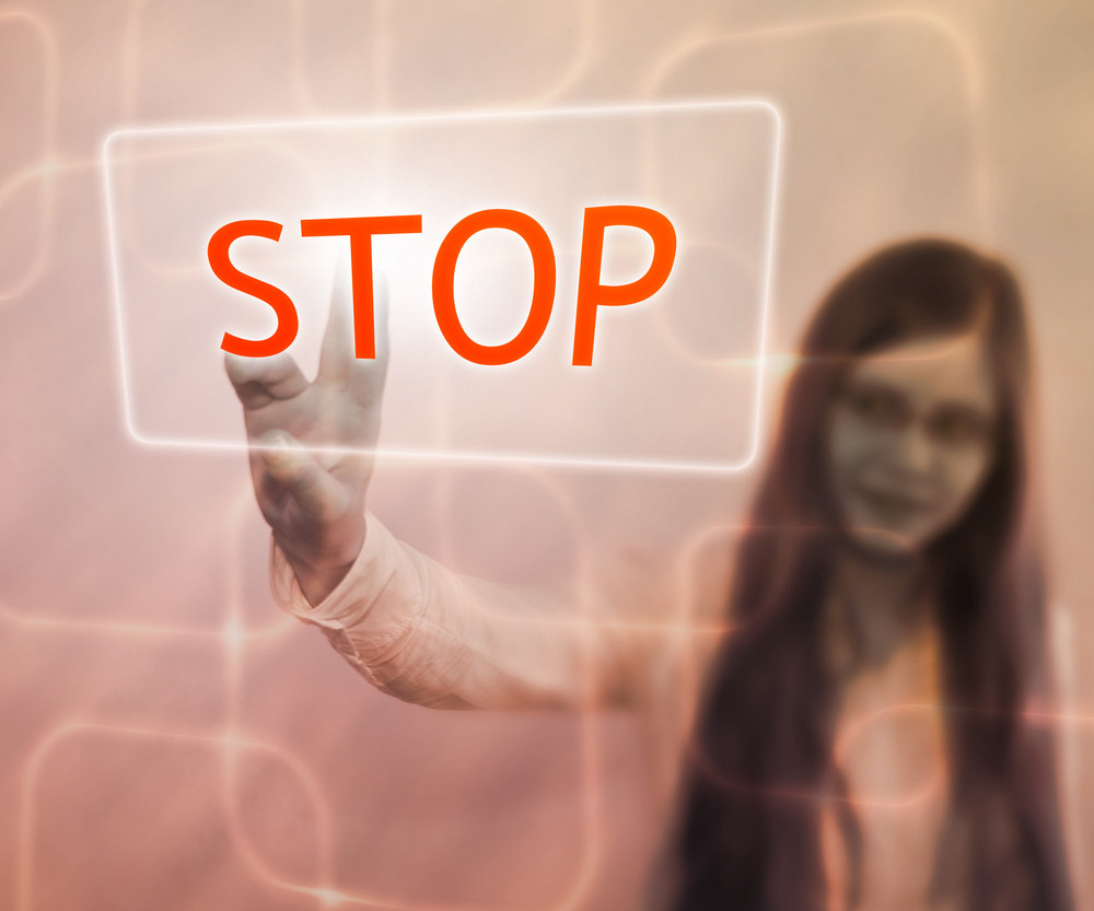 Stop Button On Touch Screen