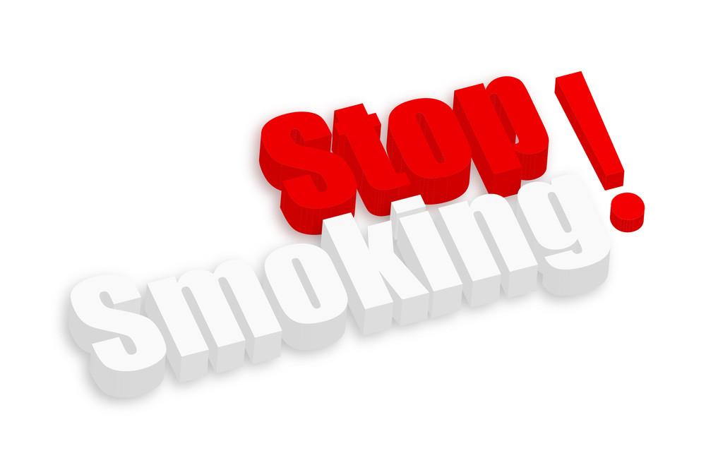 Stop Smoking 3d Text