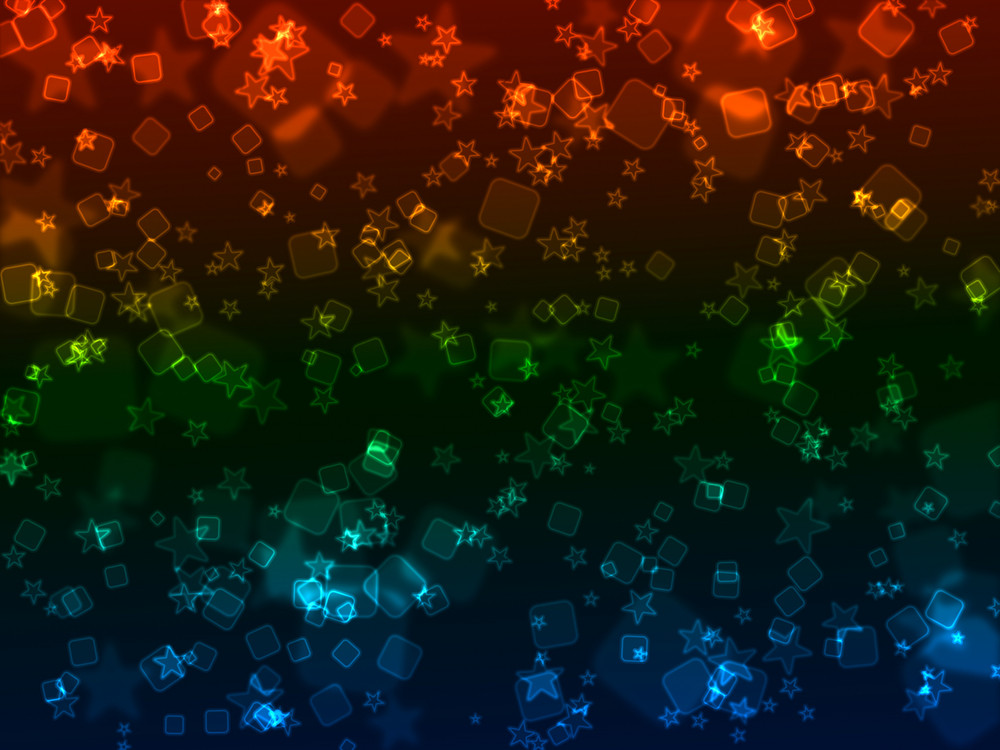 Bokeh Neon Shapes Background