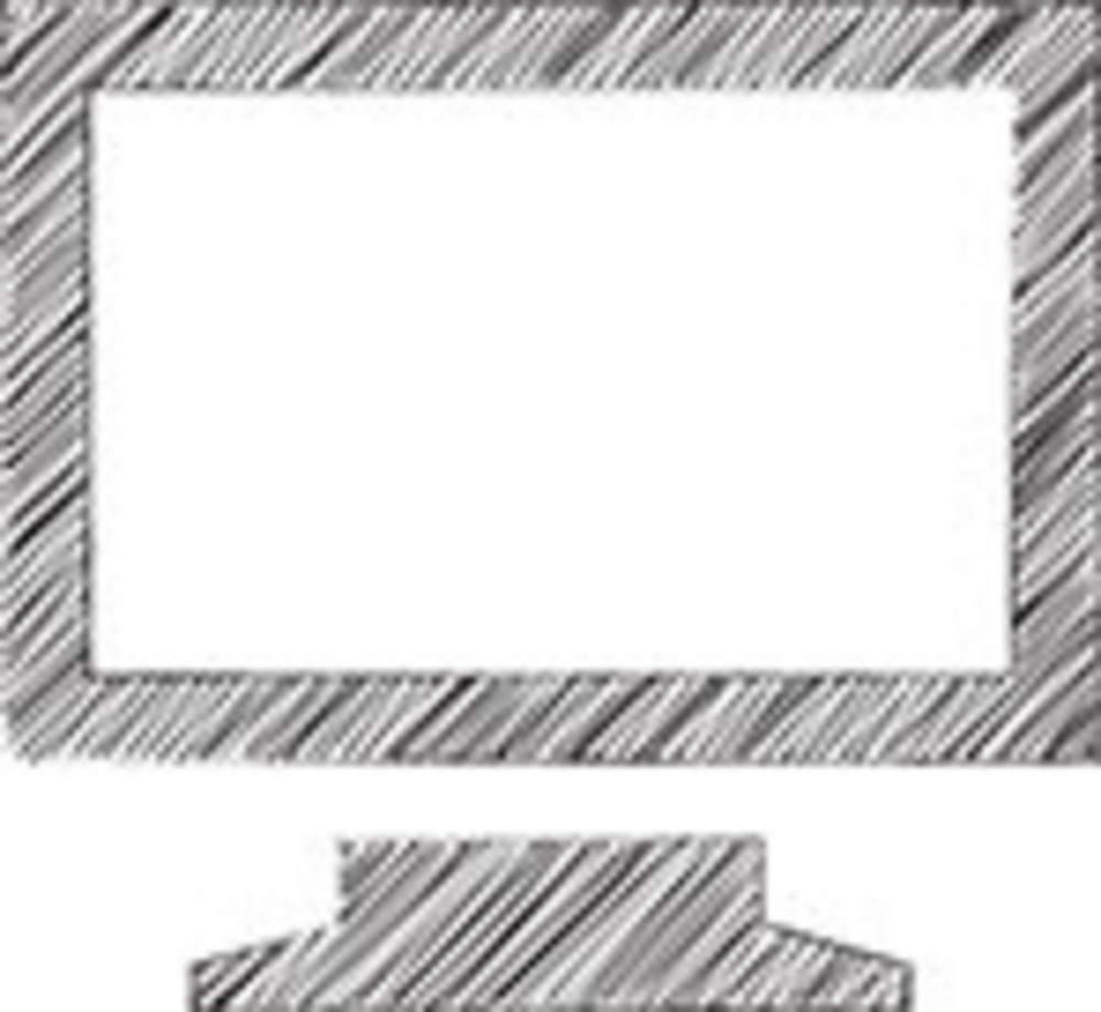 Scribbled Monitor Icon On White Background