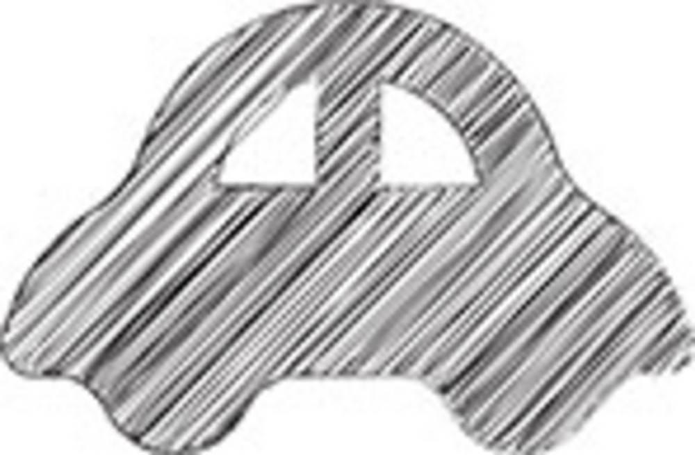 Scribbled Car Icon On White Background