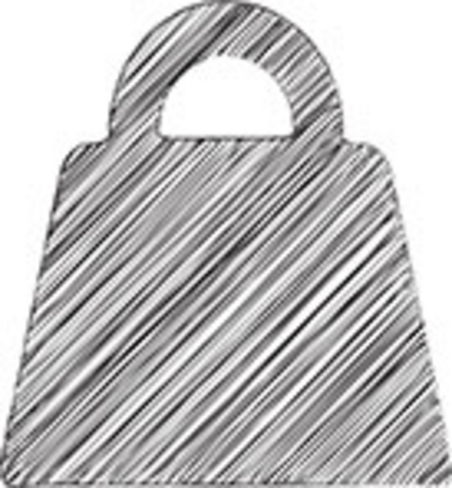 Scribbled Bag Icon On White Background
