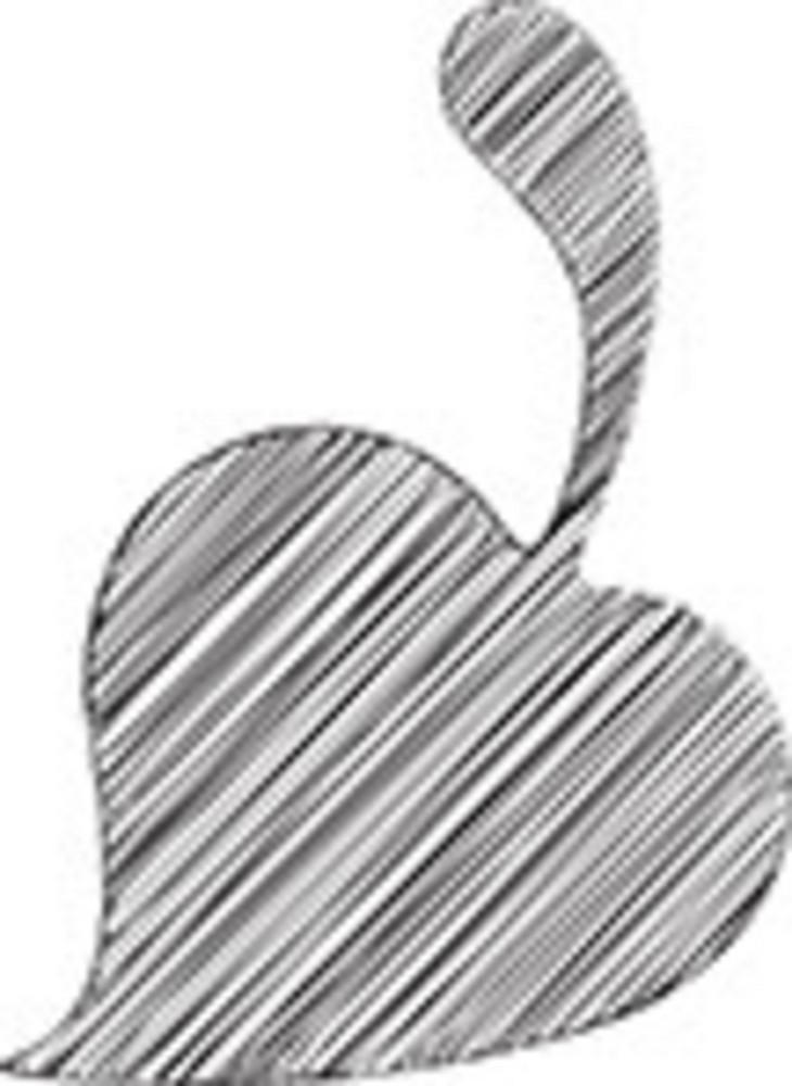 Scribbled Leaf On White Background