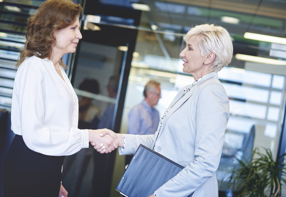 Business Women Coming To An Agreement Royalty Free Stock Image