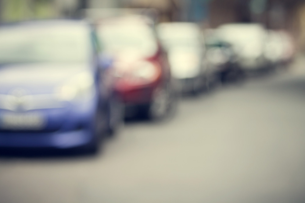car parking abstract blur background