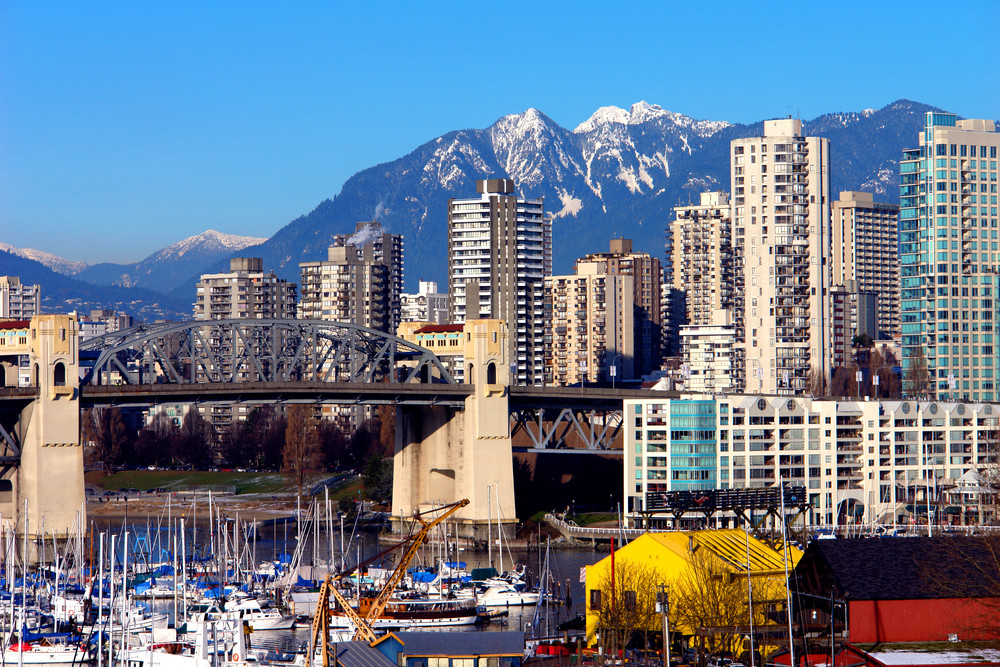 City of Vancouver with mountains in the background