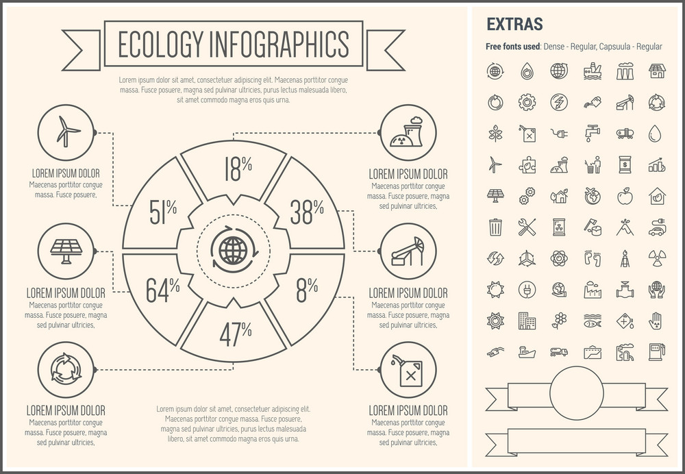 ecology infographic template and elements the template includes the