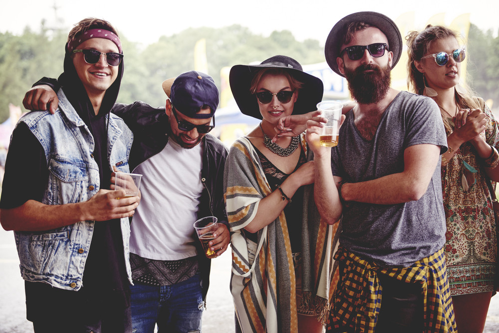 Fashionable friends at the music festival