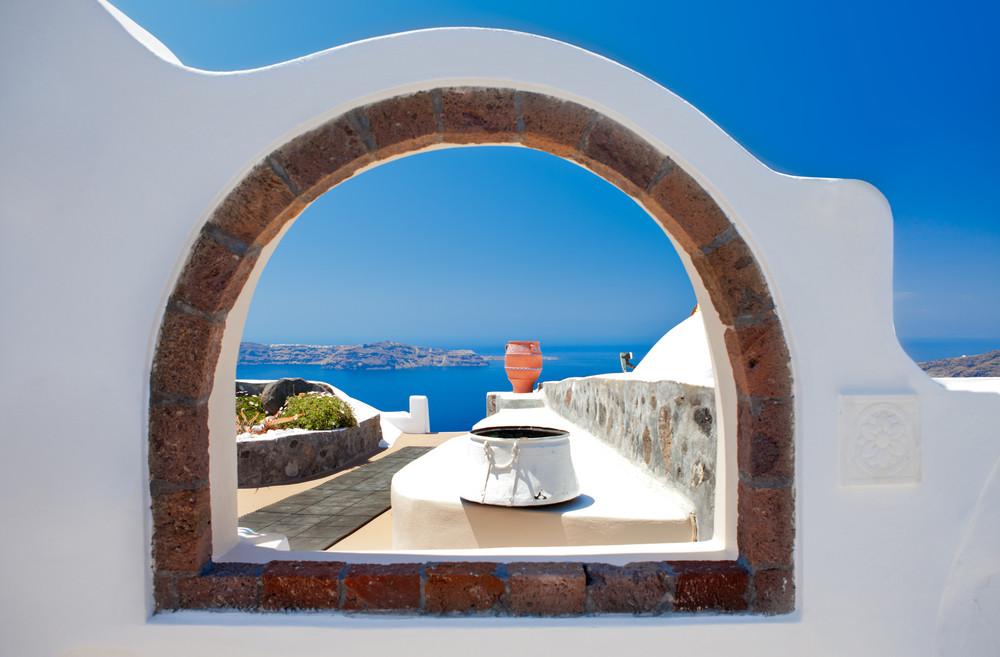 Scene from Santorini, Greece