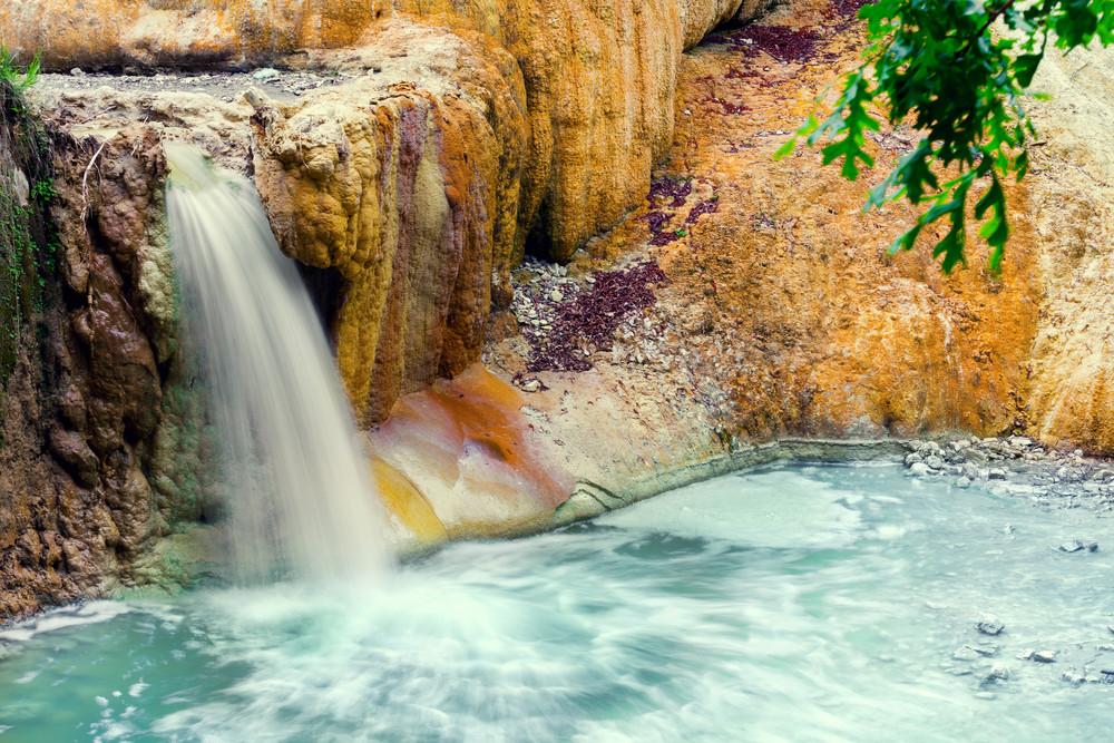 Thermal springs San Filippo, Tuskany, Italy