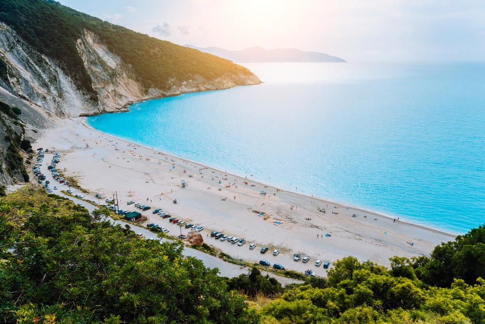 View to Famous Myrtos Beach, Kefalonia, Greece