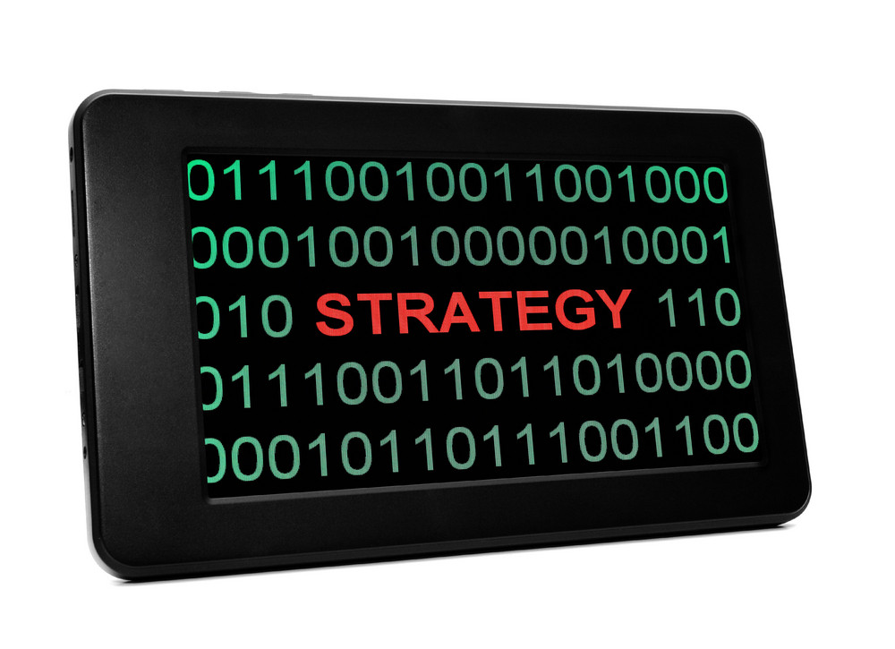 Strategy Concept On Pc Tablet